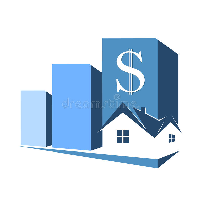Sale, purchase and rental housing symbol stock illustration