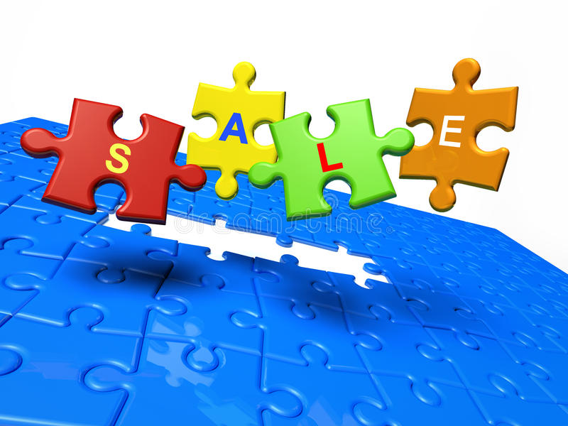 Download Sale. Puzzle Pieces With Text Stock Illustration - Illustration: 10529012