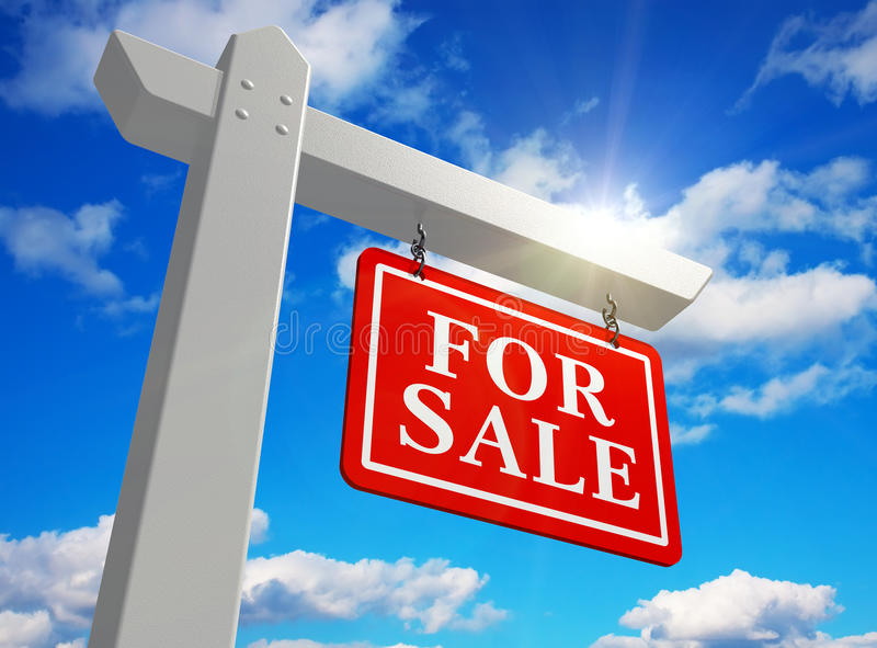 Download For sale real estate sign stock illustration. Image of message - 17247932