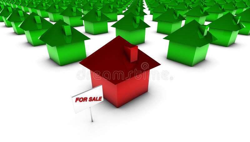 For Sale - Red With Green Stock Photography