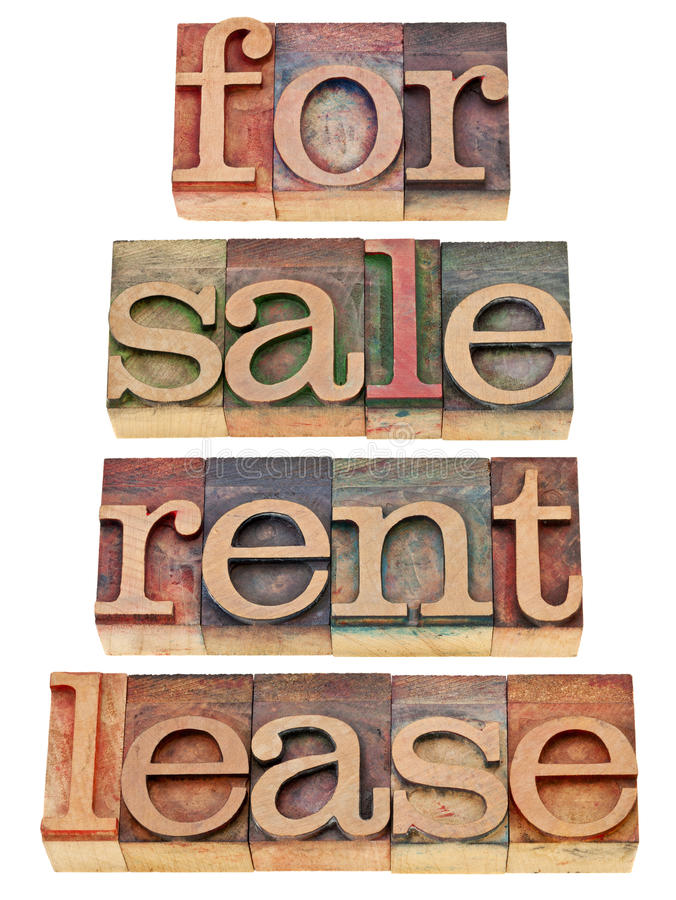 For sale, rent, lease royalty free stock images