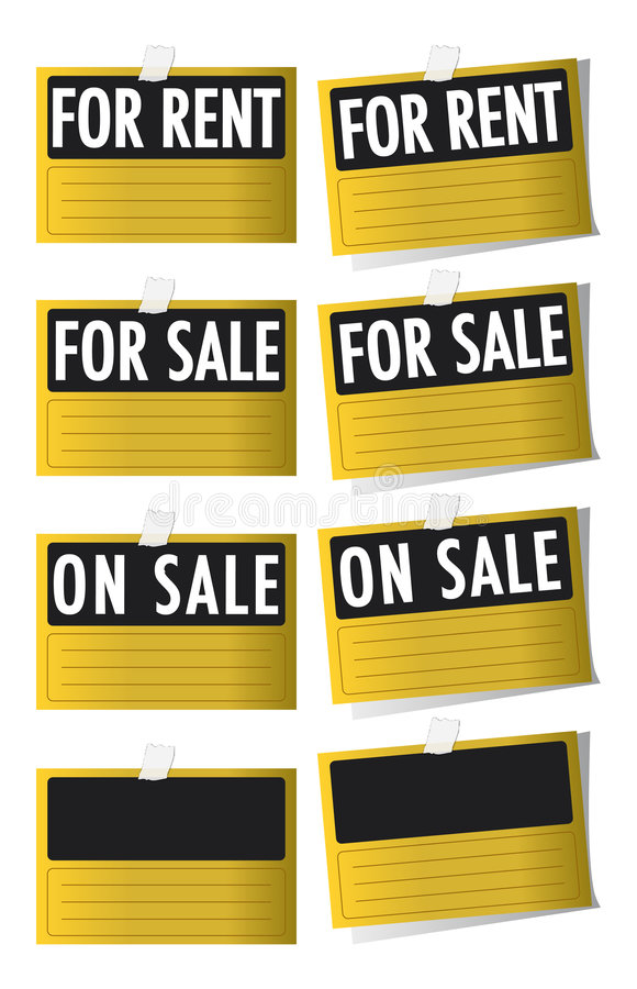 Download For Sale And For Rent Signs Royalty Free Stock Photography - Image: 8545507