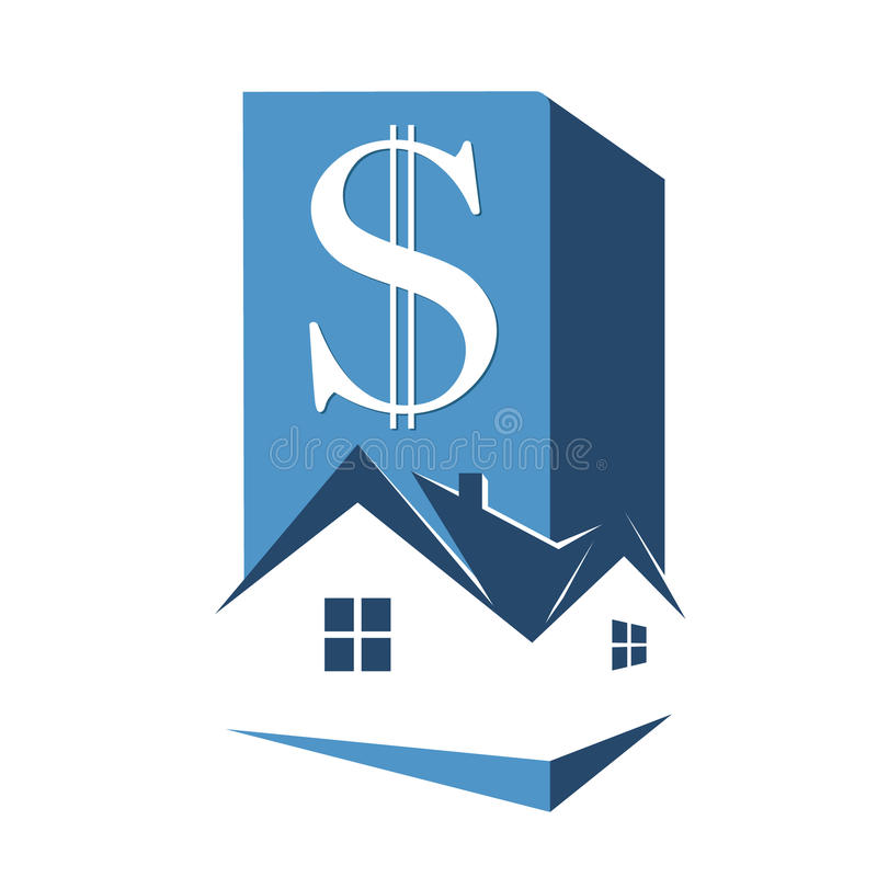 Sale and rental housing symbol royalty free illustration