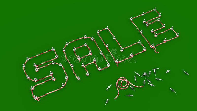 SALE - Rope Outlined to Pins Wording on Green Board