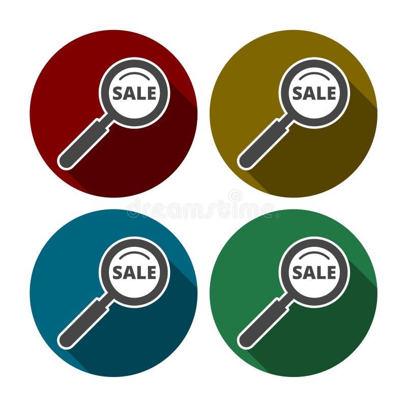 Sale sökandesymbol för rengöringsduk och mobil royaltyfri illustrationer