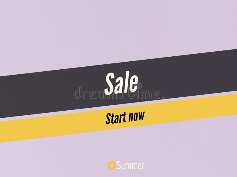 Sale sale start now in summer banner page. Sale start now summer banner page texr vector illustration