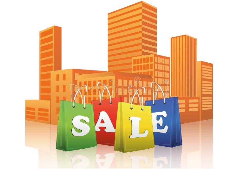 Sale Shopper City Stock Photo