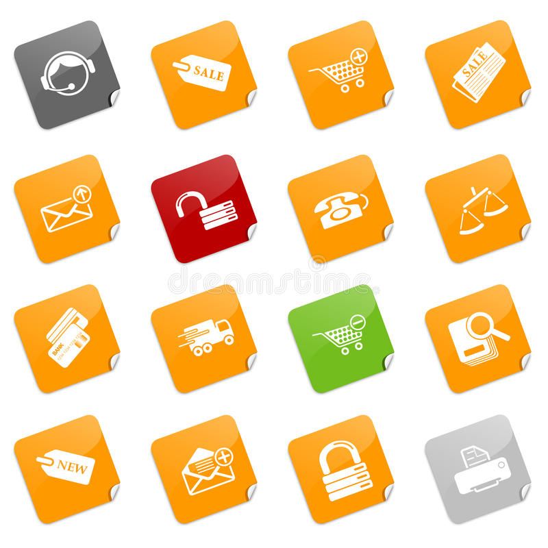 Sale And Shopping Icons - Sticky Series Stock Photos