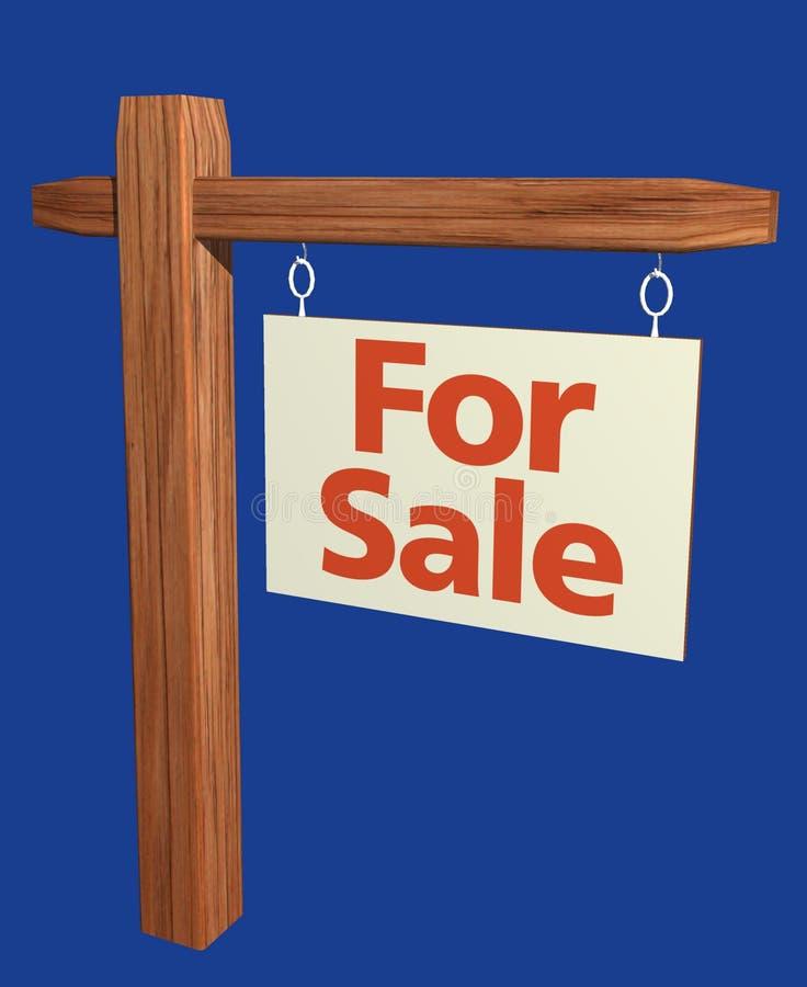 Download For Sale Sign stock illustration. Illustration of wood - 101854