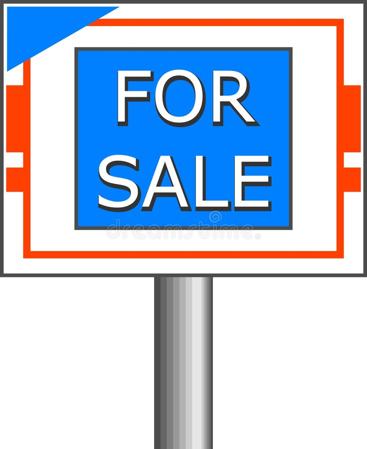 Download For Sale Sign stock illustration. Illustration of sign, notice - 31593