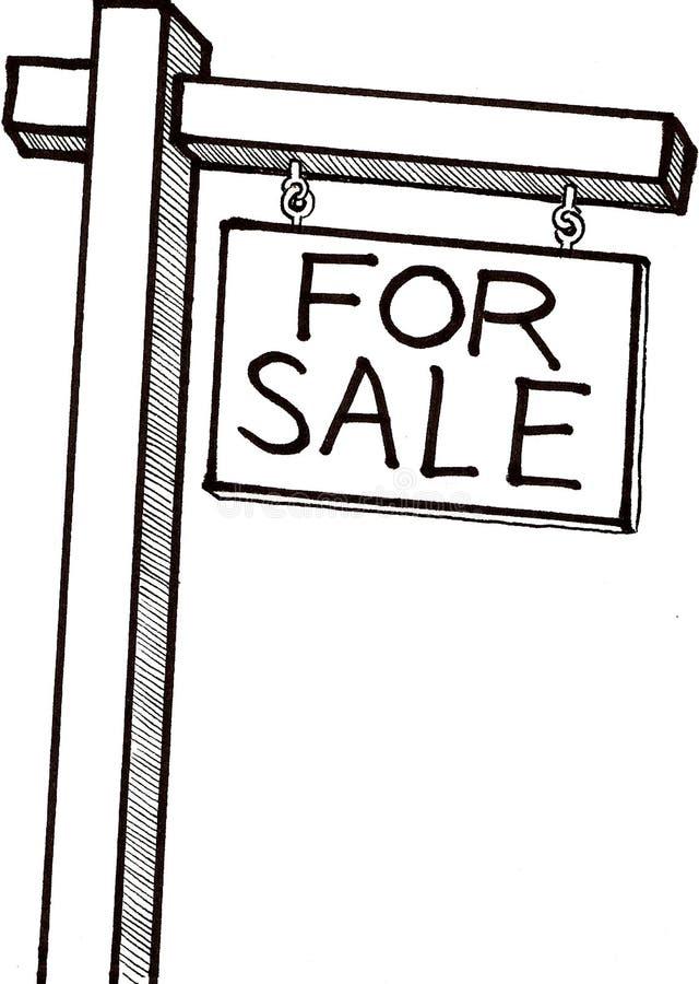 For Sale Sign. Illustration of a for sale sign royalty free illustration