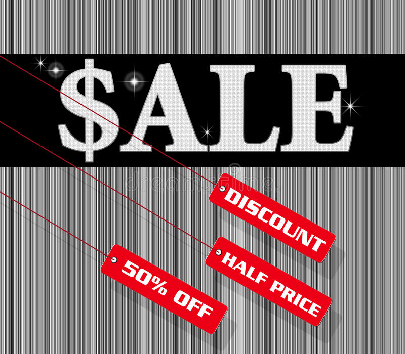 Sale sign and discount tag