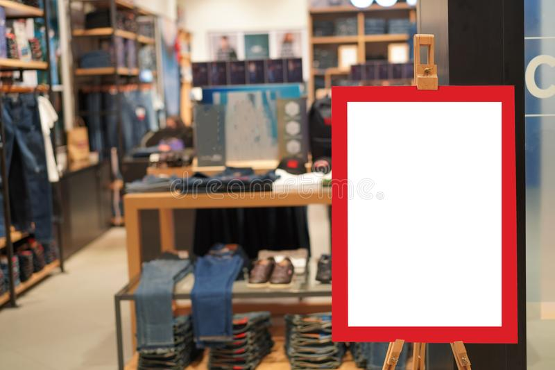 Sale sign fashion retail shop store. In shopping mall stock photography