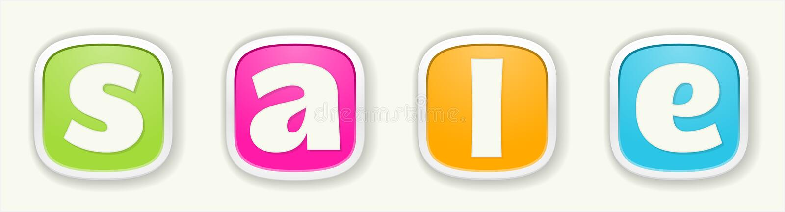 Download The sale sign stock vector. Image of discount, commerce - 36362082