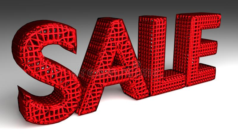 SALE sign in red and glossy letters royalty free illustration
