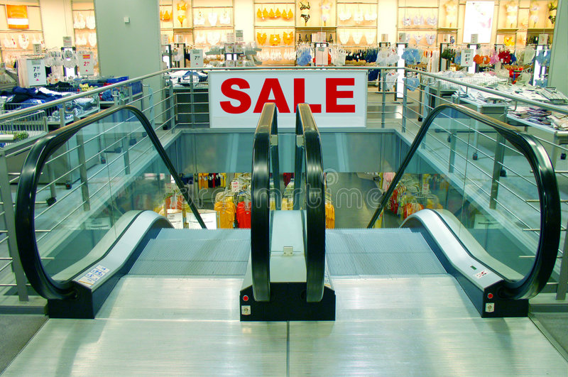 SALE  Sign In A Shopping Mall Stock Photography