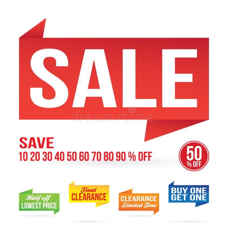 Sale Signage Elements Royalty Free Stock Photos