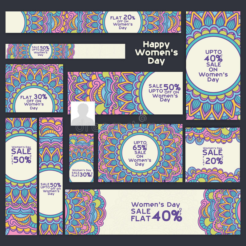 Sale Social Media post and header for Women's Day. vector illustration