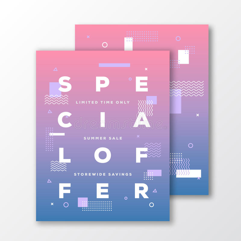 Sale Special Offer Poster Card Or Flyer Template Modern Abstract