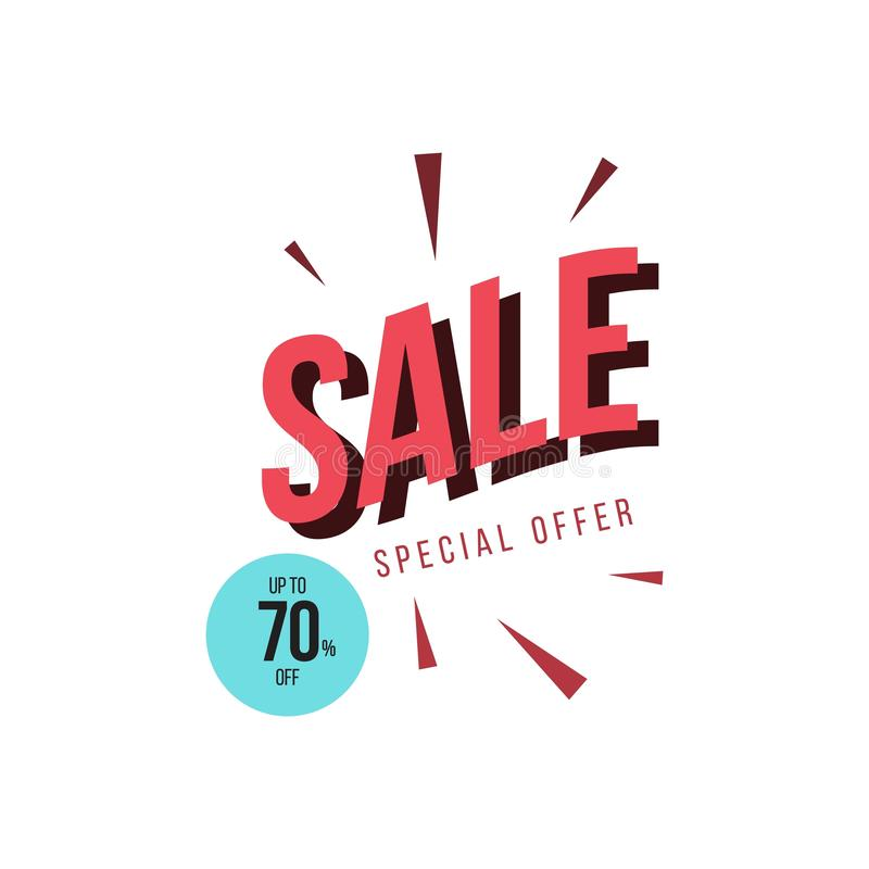 Sale Special Offer up to 70% off Vector Template Design Illustration royalty free illustration