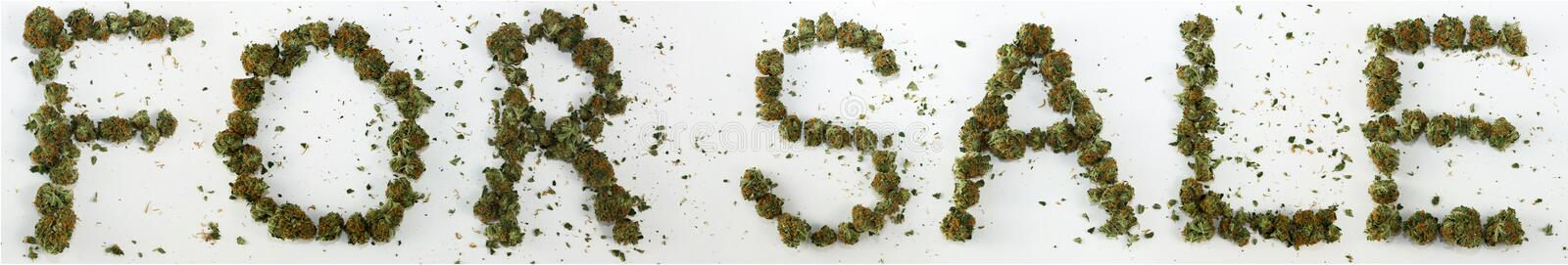 For Sale Spelled With Marijuana stock image