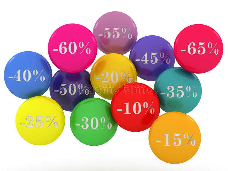 Sale spheres with percent discount
