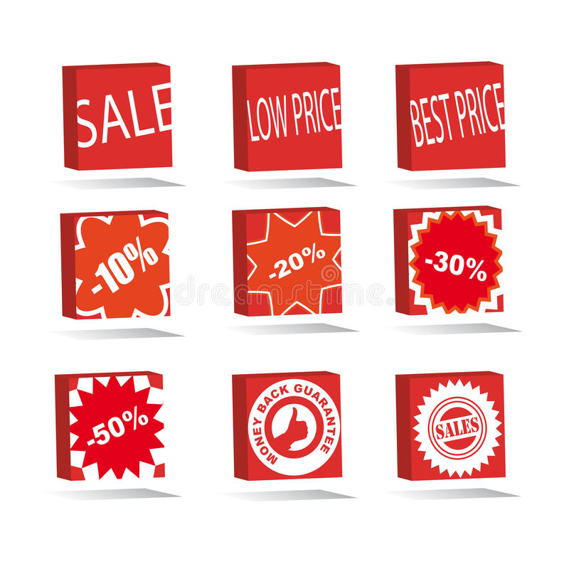 Download Sale square icons set stock vector. Illustration of shop - 23935634