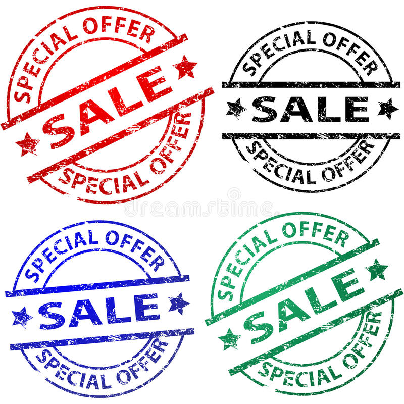Sale stamps vector illustration