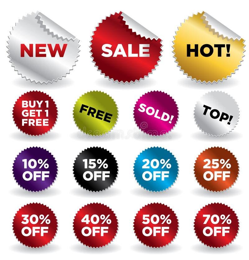 Sale_stickers_2 illustrazione di stock
