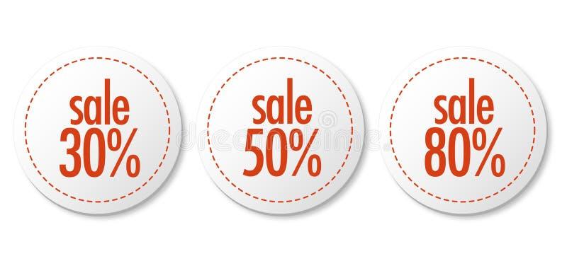 Sale stickers vector illustration