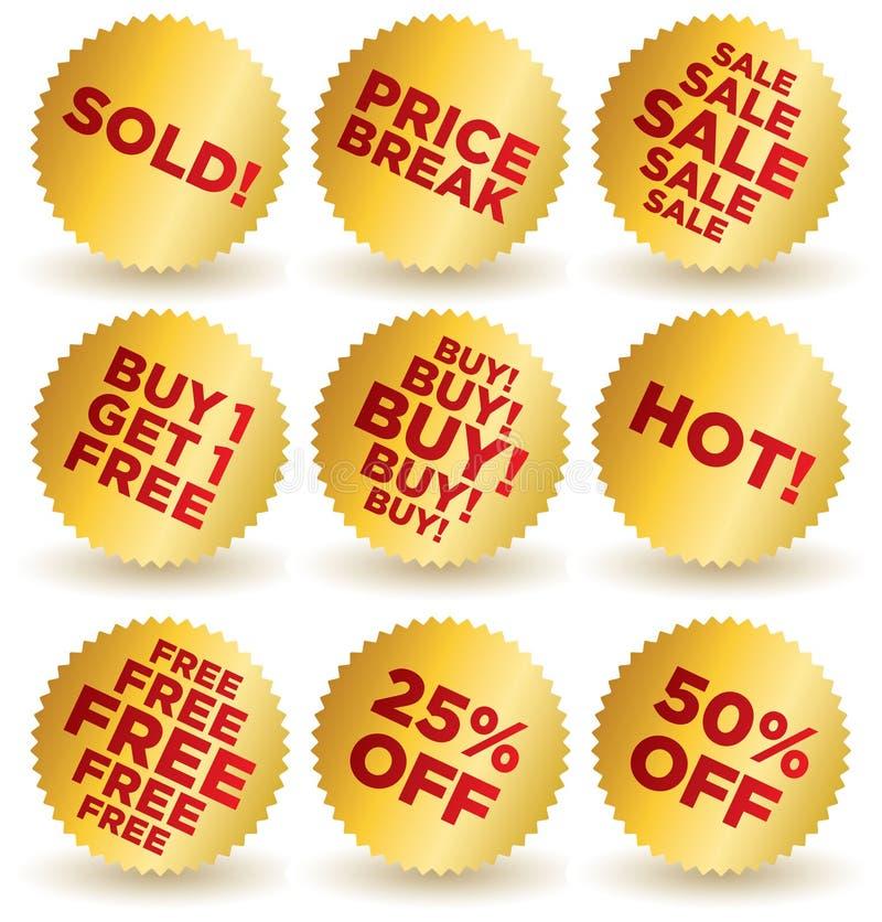 Sale_stickers_6 royalty illustrazione gratis