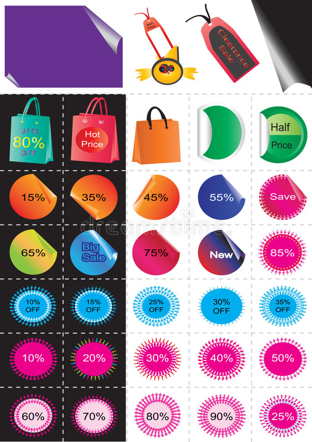 Download Sale Stickers_eps stock vector. Image of backgrounds - 15668872