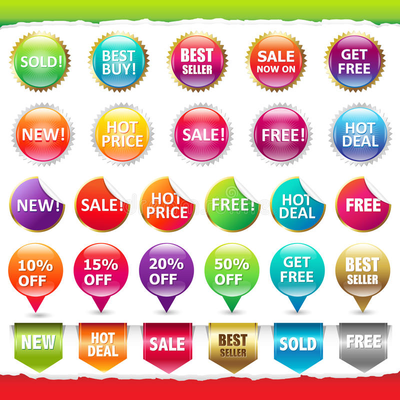 Sale Stickers And Labels royalty free illustration