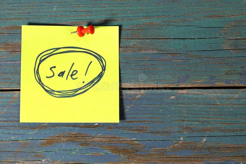 Sale on sticky stock illustration