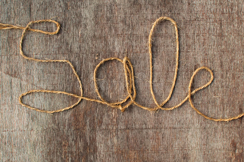 Sale string stock image