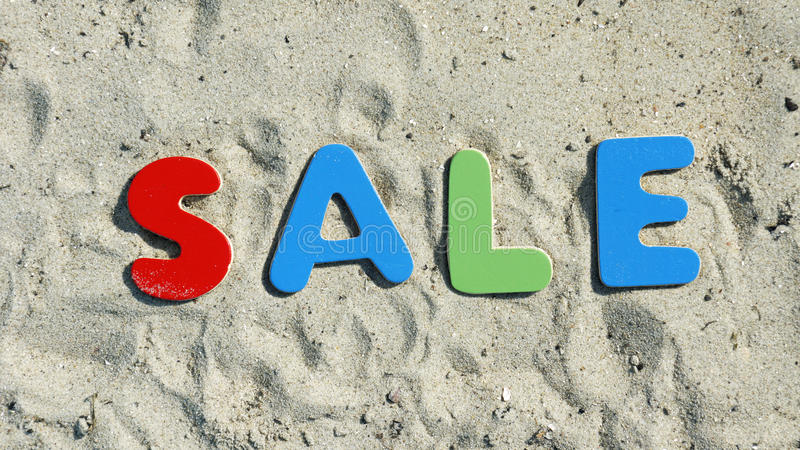 Sale in the summer royalty free stock photography