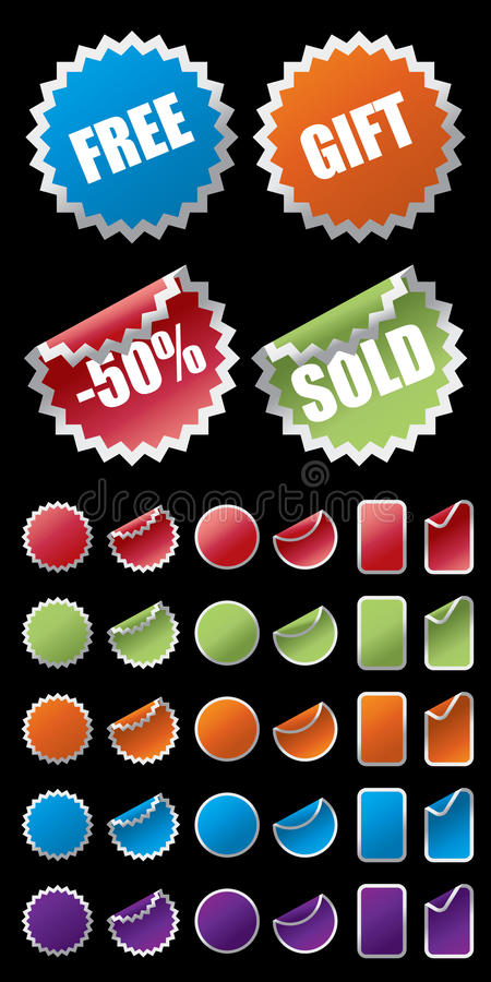 Sale Tag. Vector Sale Tag With 5 colors