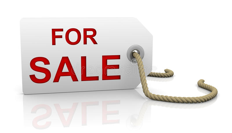 For Sale Tag In Left Position Stock Images