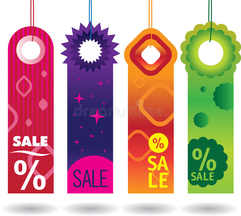 Sale tags stock illustration