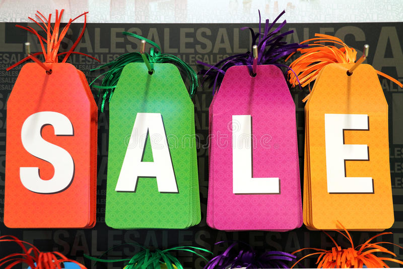 Sale Tags. Image of colorful shopping carnival sale tags