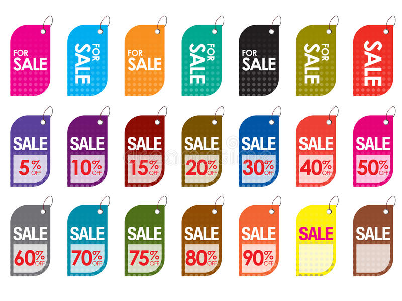 Download Sale tags stock vector. Image of marketing, badge, great - 18507494