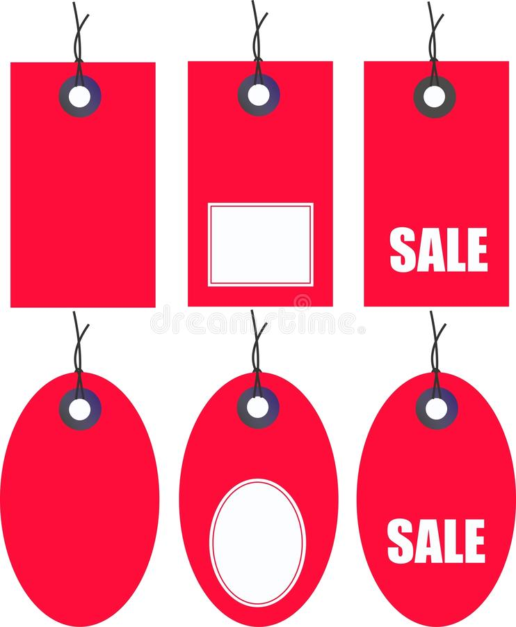 Sale tags royalty free illustration