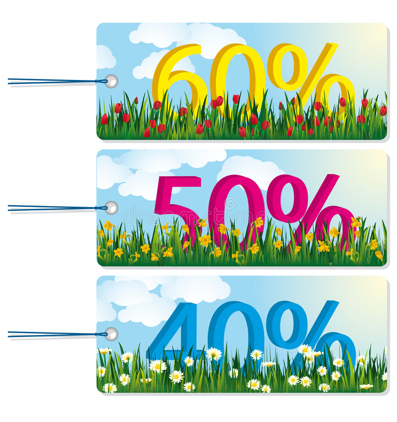Download Sale Tags stock vector. Image of daisy, concept, customer - 9033634