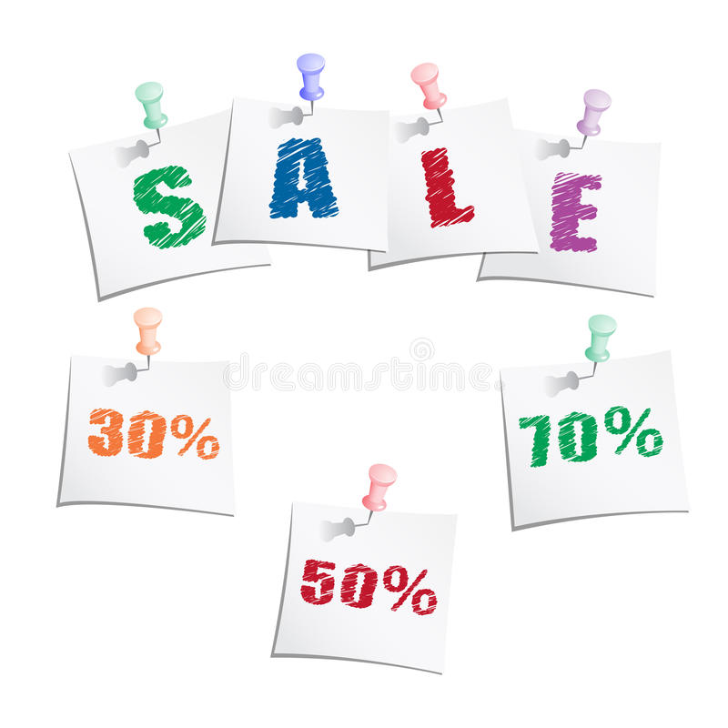 Download Sale Tags With Push Pin Stock Image - Image: 25031881
