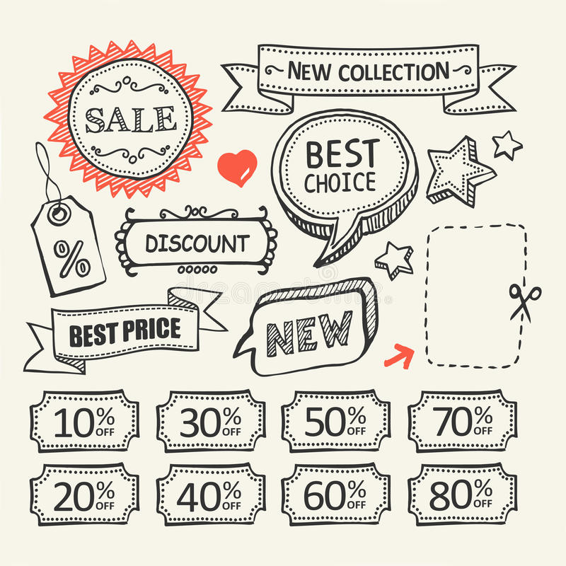 Sale tags. Shopping set. vector illustration