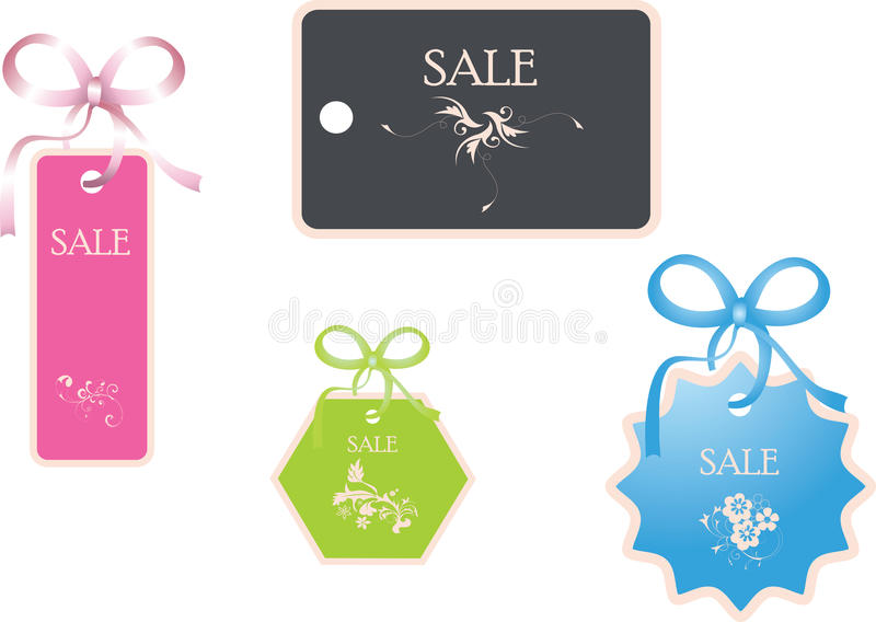 Sale tags. Vector Illustration royalty free stock images