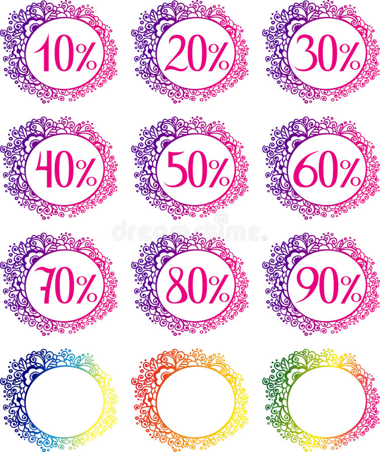 Download Sale Template With Percents Stock Vector - Image: 31979547