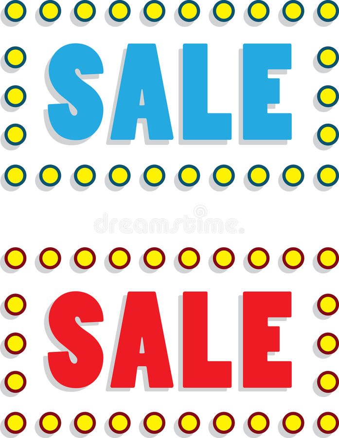 Sale Text Royalty Free Stock Images
