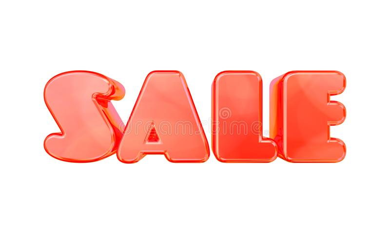 Sale text for discount ads, banners and showcases for web and print usage. royalty free stock photo