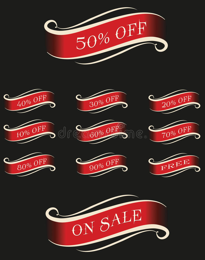 Sale Text royalty free illustration